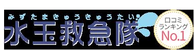 東京で水漏れ・つまり、蛇口の修理交換なら水玉救急隊 ロゴ