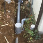 新しい排水管と桝