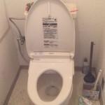 古いトイレ 便器・タンク