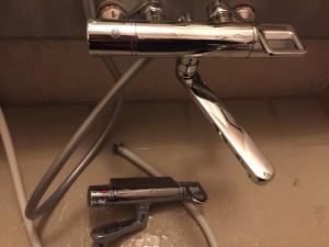 浴室蛇口 古いのと新しいのと