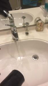 洗面所の詰まりが直った所