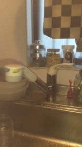 古いキッチン蛇口
