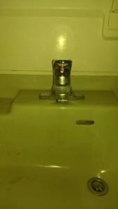 新しい洗面蛇口