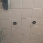 浴室蛇口を外した所