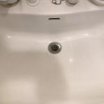 洗面所のつまりが直ったところ