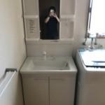 新しい洗面台・鏡