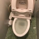トイレが詰まっているところ